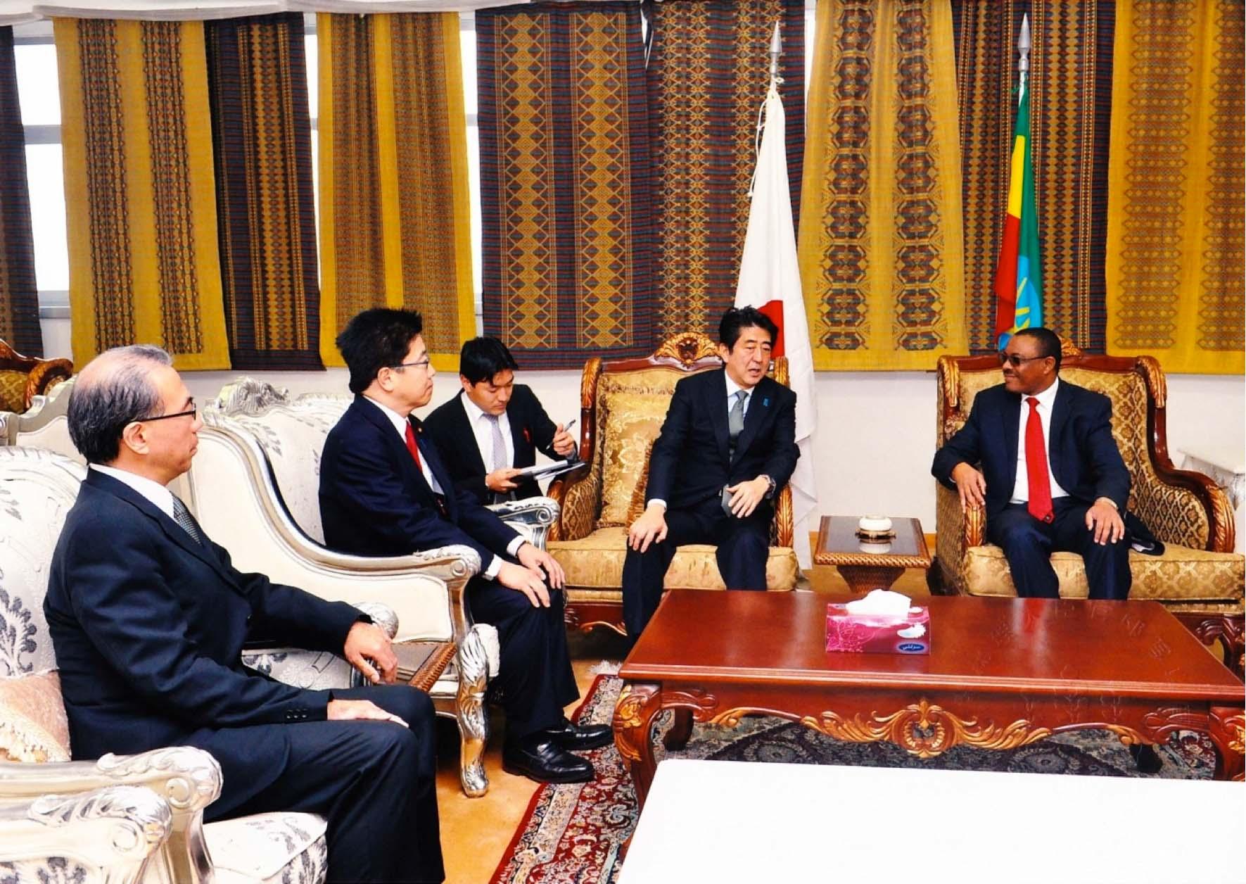 日・エチオピア首脳会談