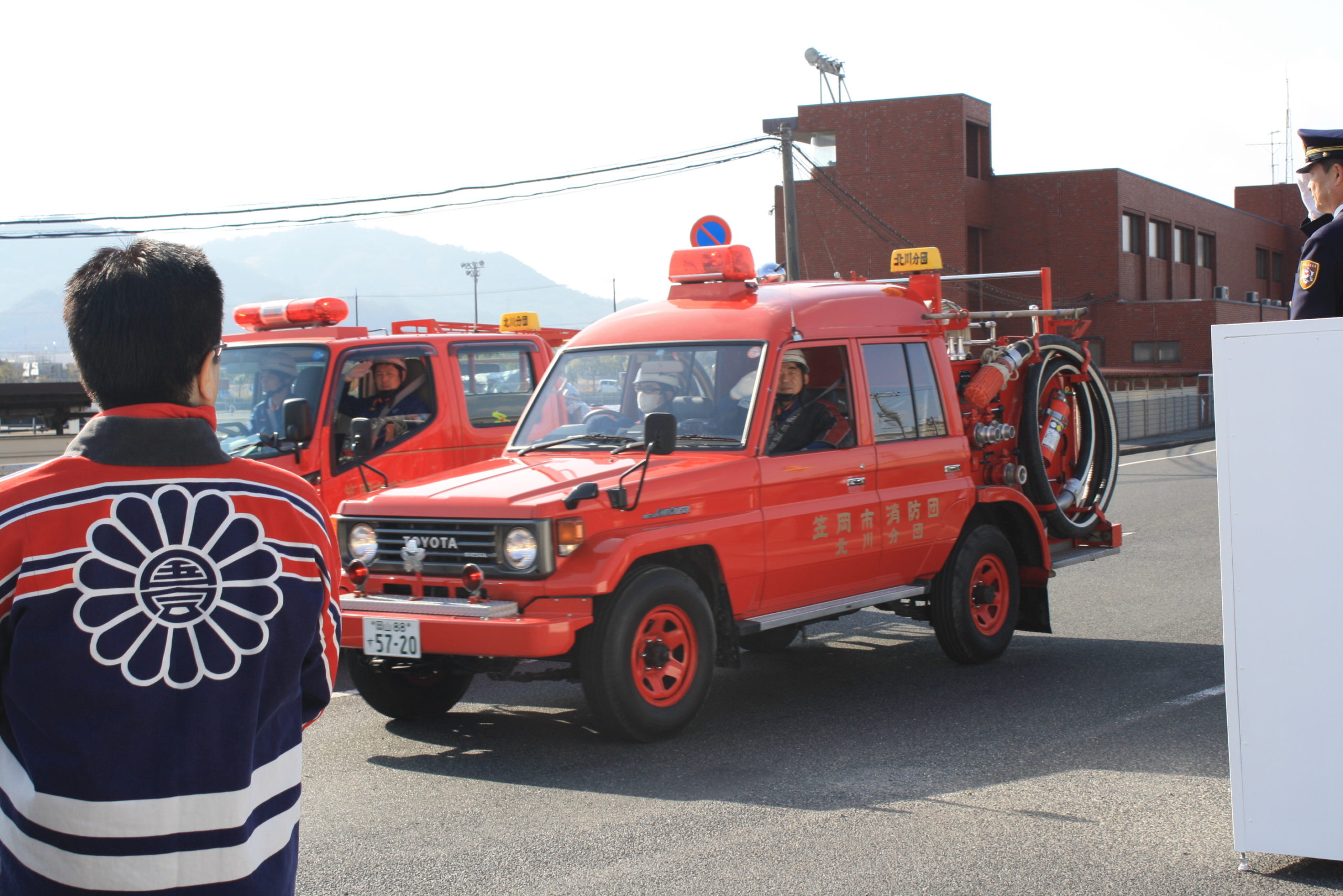 笠岡市消防出初式